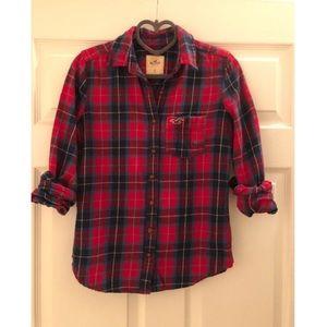 Hollister Red Plaid Shirt